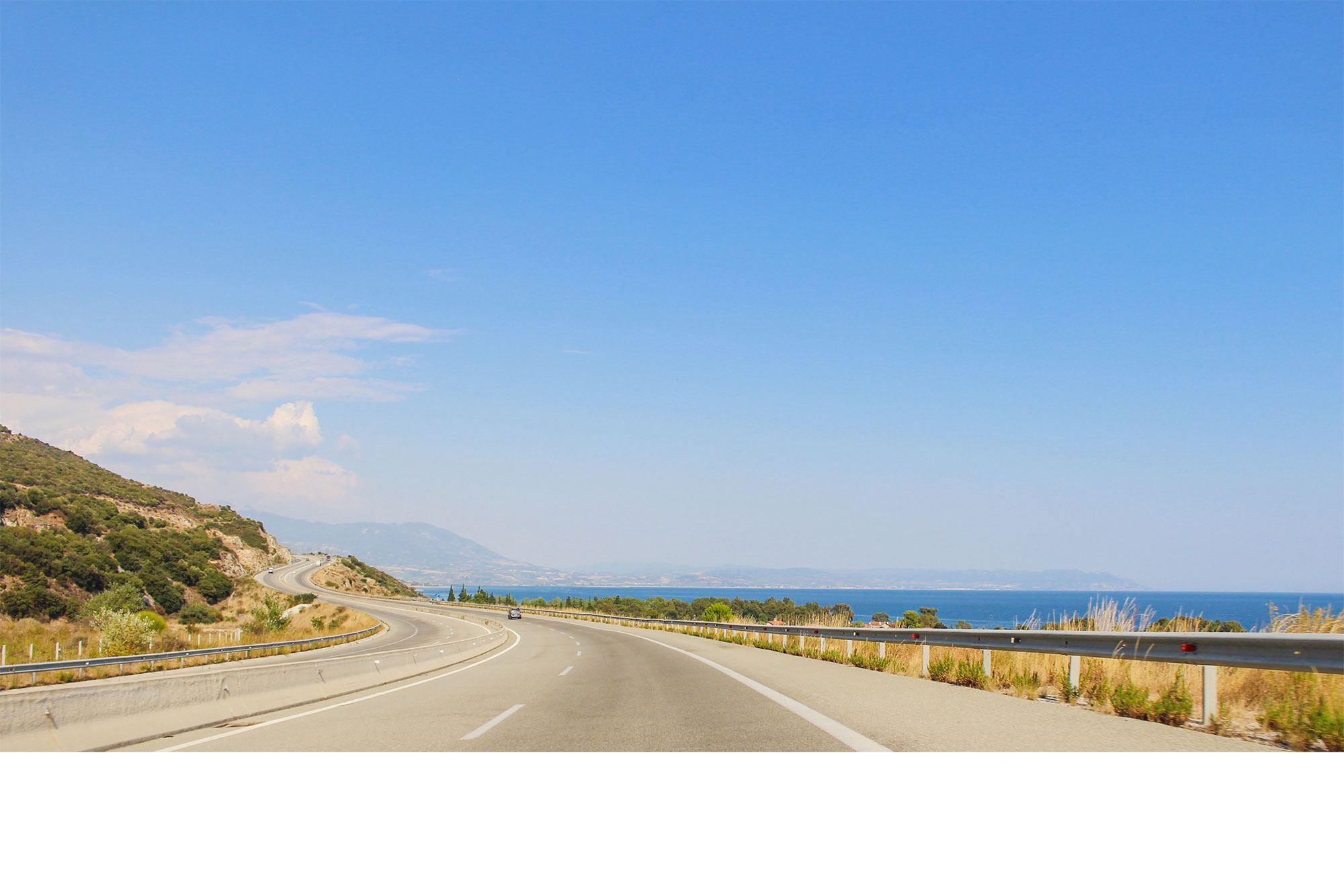View of the Mediterranean Sea from the Road in Thessaloniki