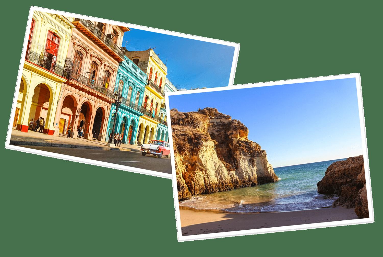 Postcards of the Havana and Algarve
