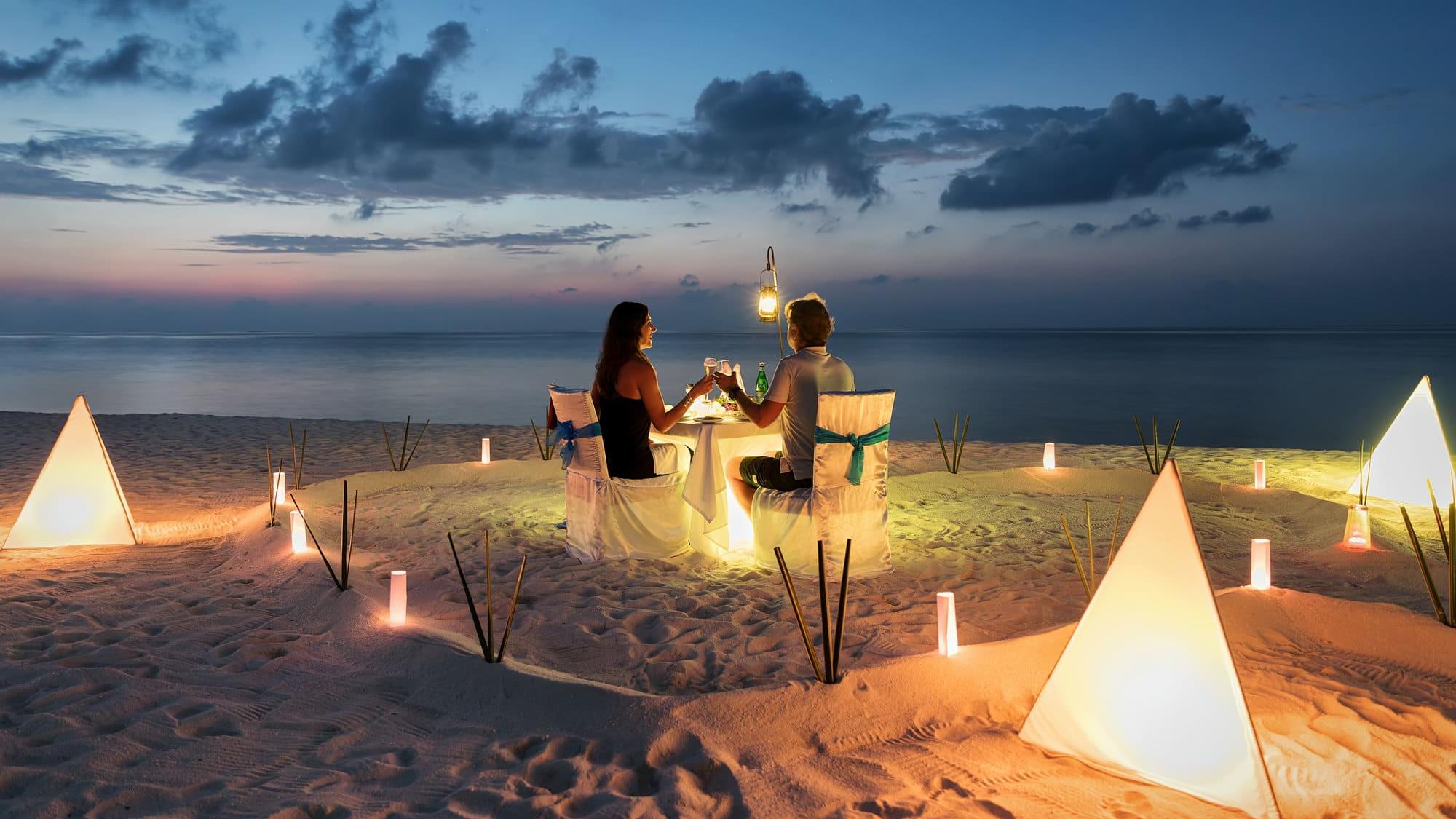 Dinner Sandbank Maldives