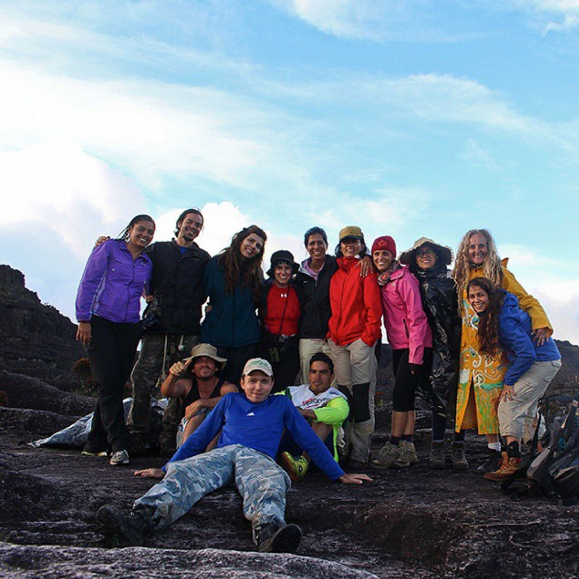 Crew on the top of the Roraima