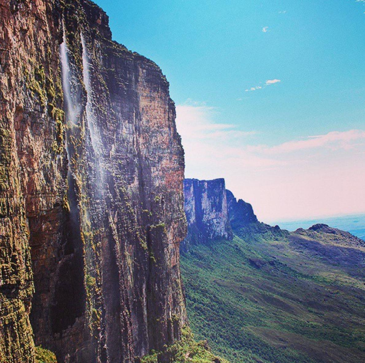 Waterfall at the Roraima, Canaima, Venezuela