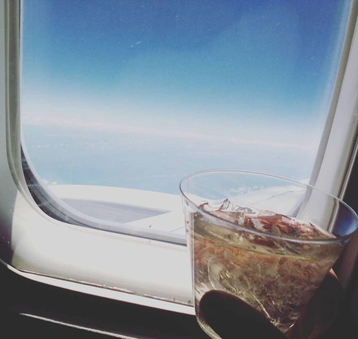 feeling fancy on the plane