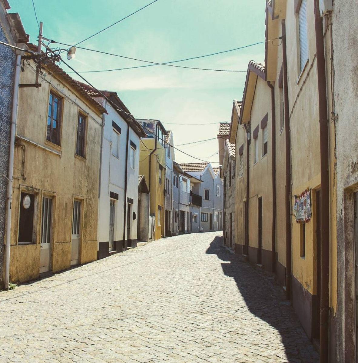 Streets in Vila Cha, Portugal