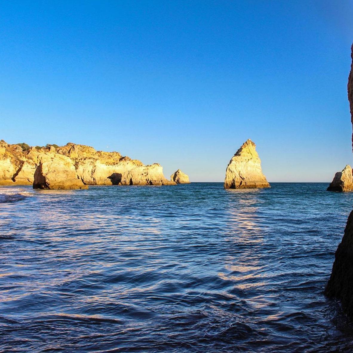 Beautiful sunset in Algarve, Portugal