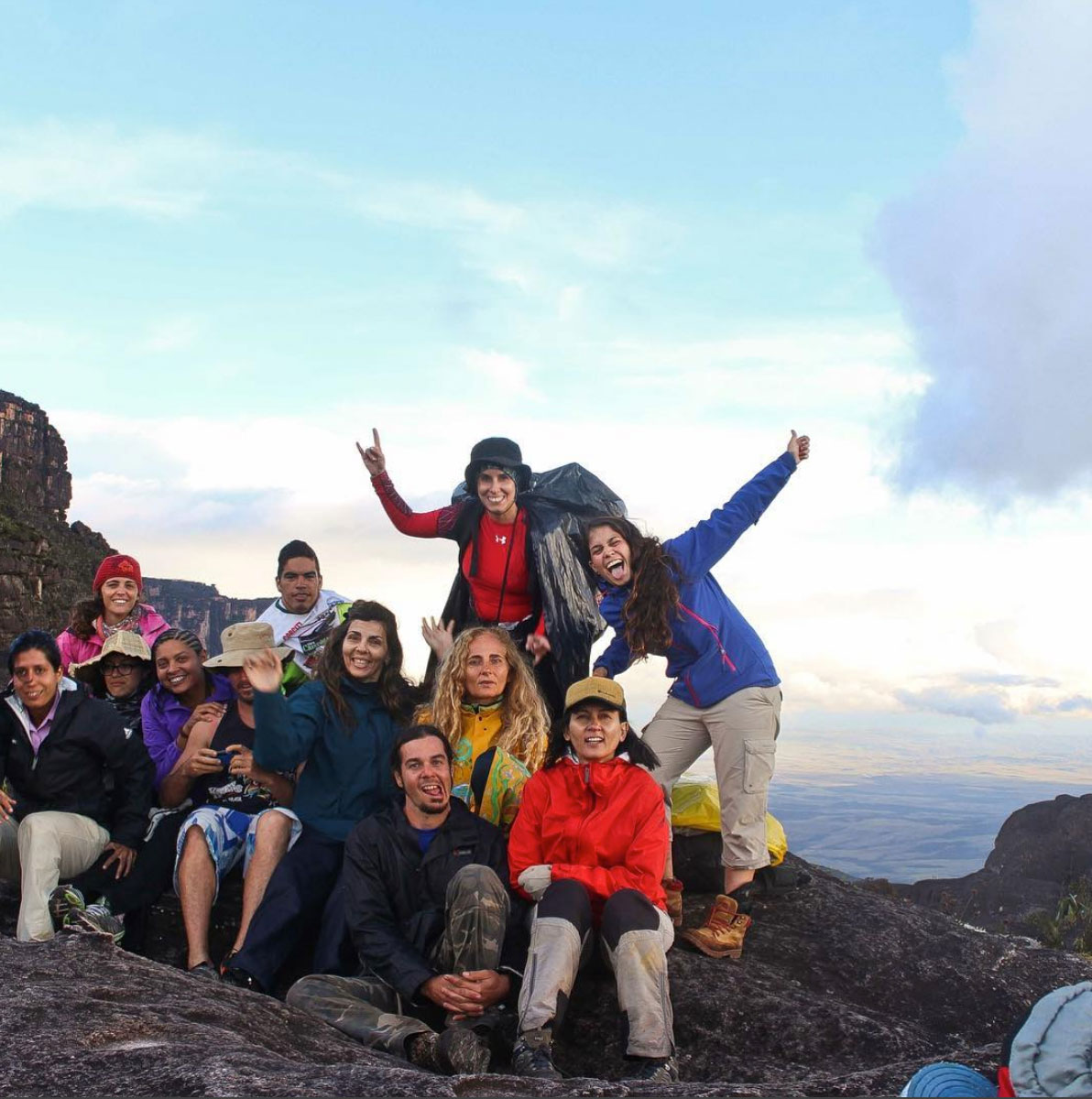 Crew at the top of the Roraima