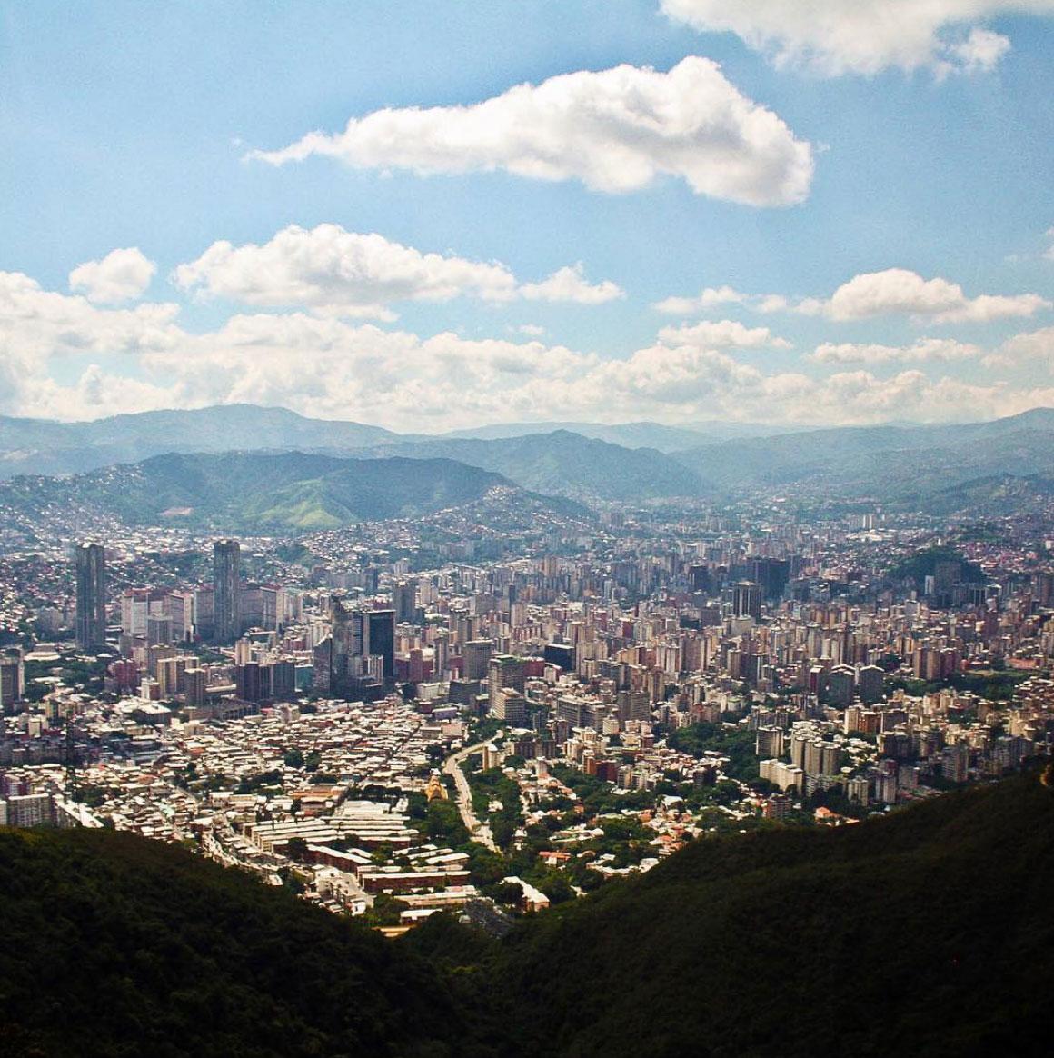 Panoramic view of Caracas from the Avila, Venezuela