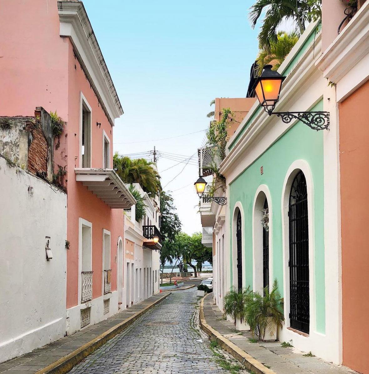 Pintoresque streets in San Juan, Puerto Rico
