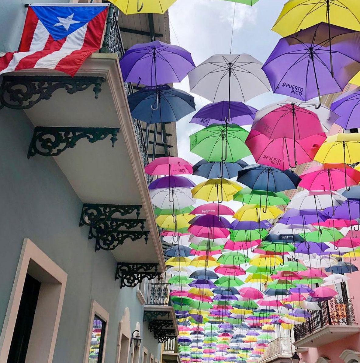 Umbrellas in San Juan, Puerto Rico