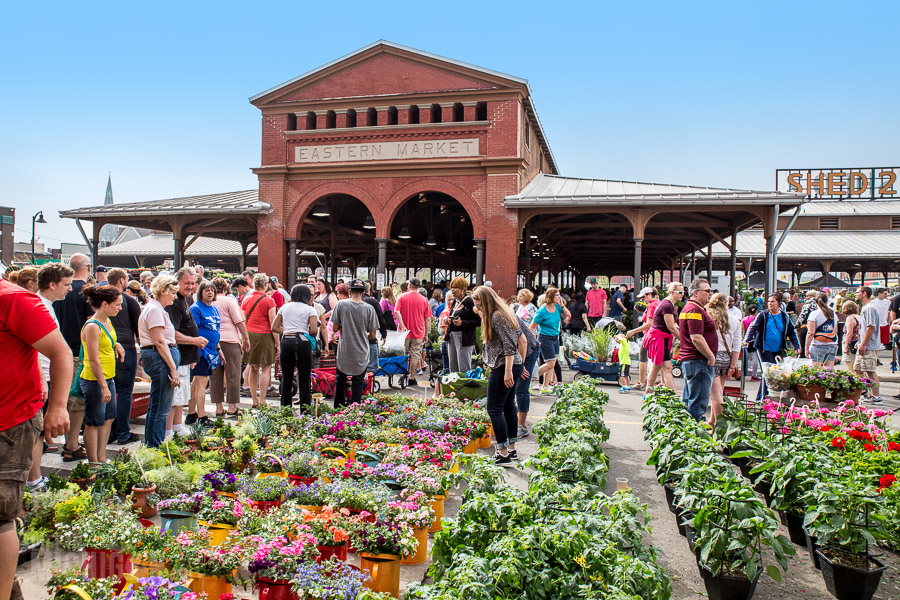 Eastern Market in Detroit on Sunday
