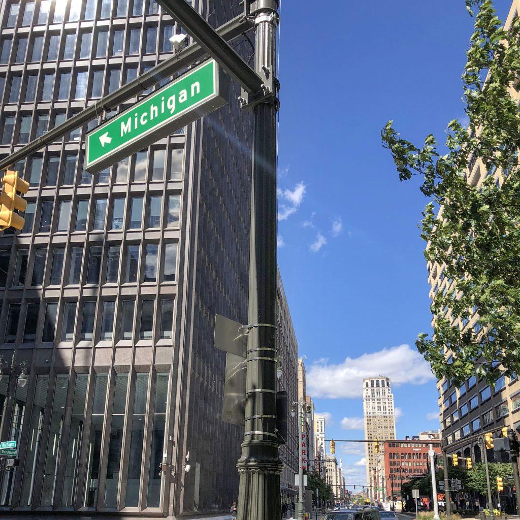 Michigan avenue in Detroit