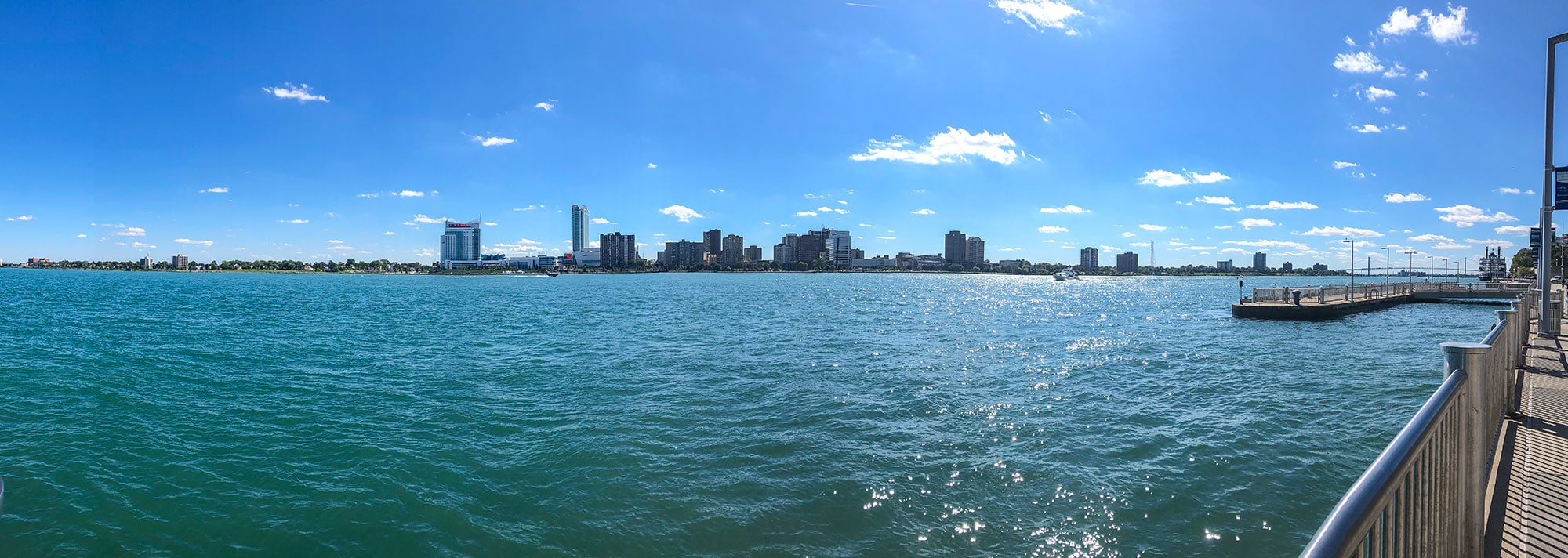 Panoramic of Detroit Riverfront