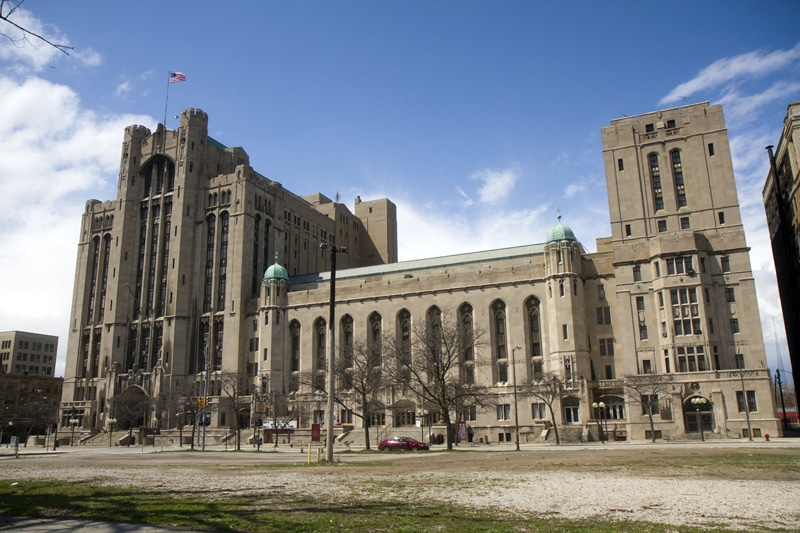 The Masonic Temple in Detroit