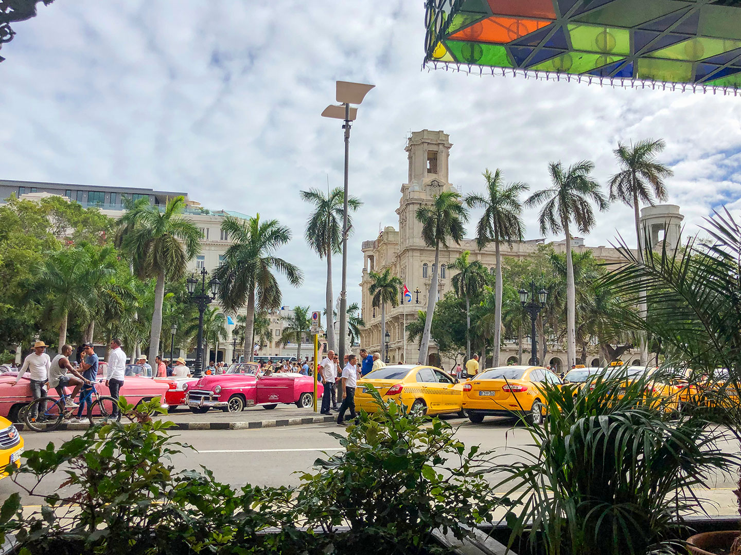 Parque central from the cafe of Hotel Inglaterra in Havana