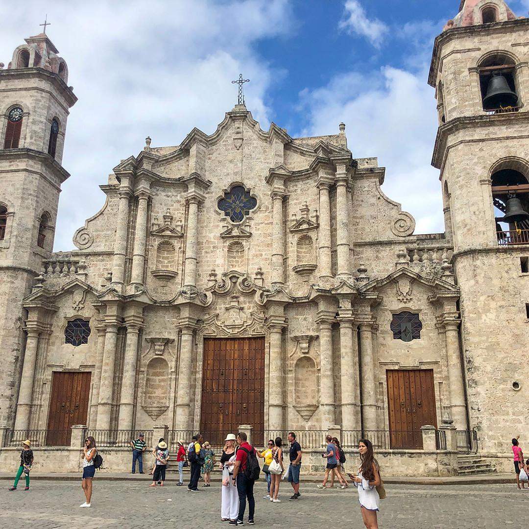 Selene at La Catedral, Havana, Cuba