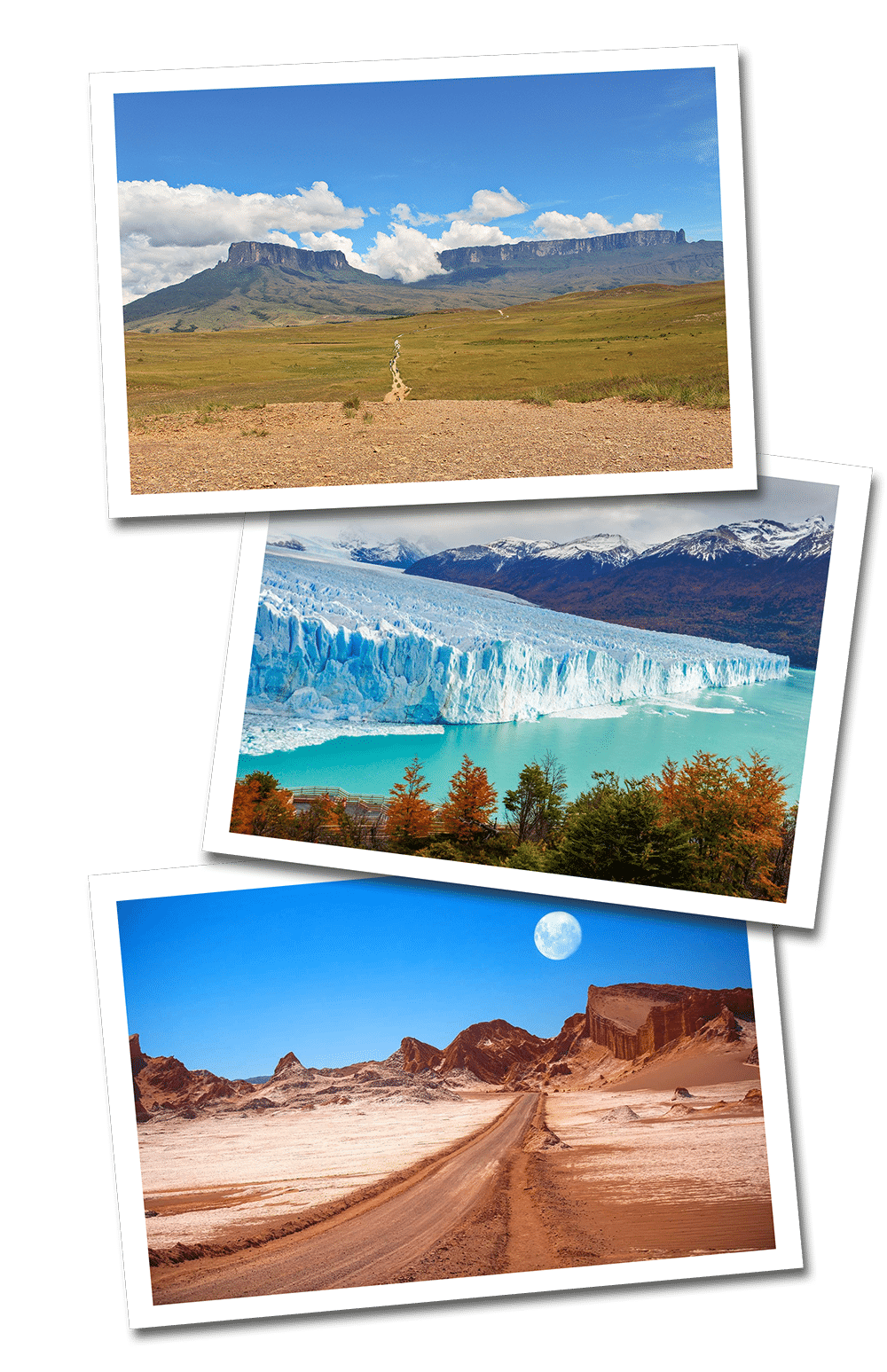 South America postcards