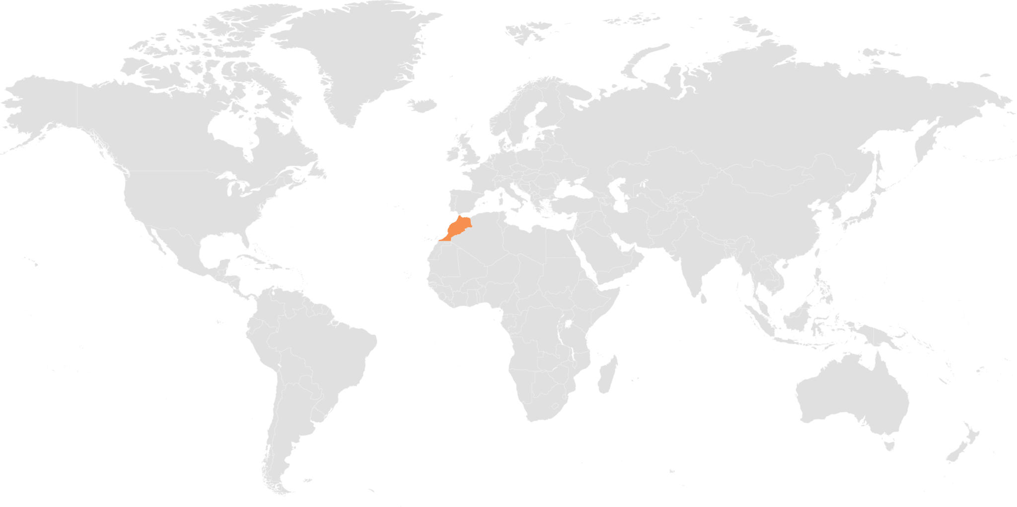 Morocco in the map