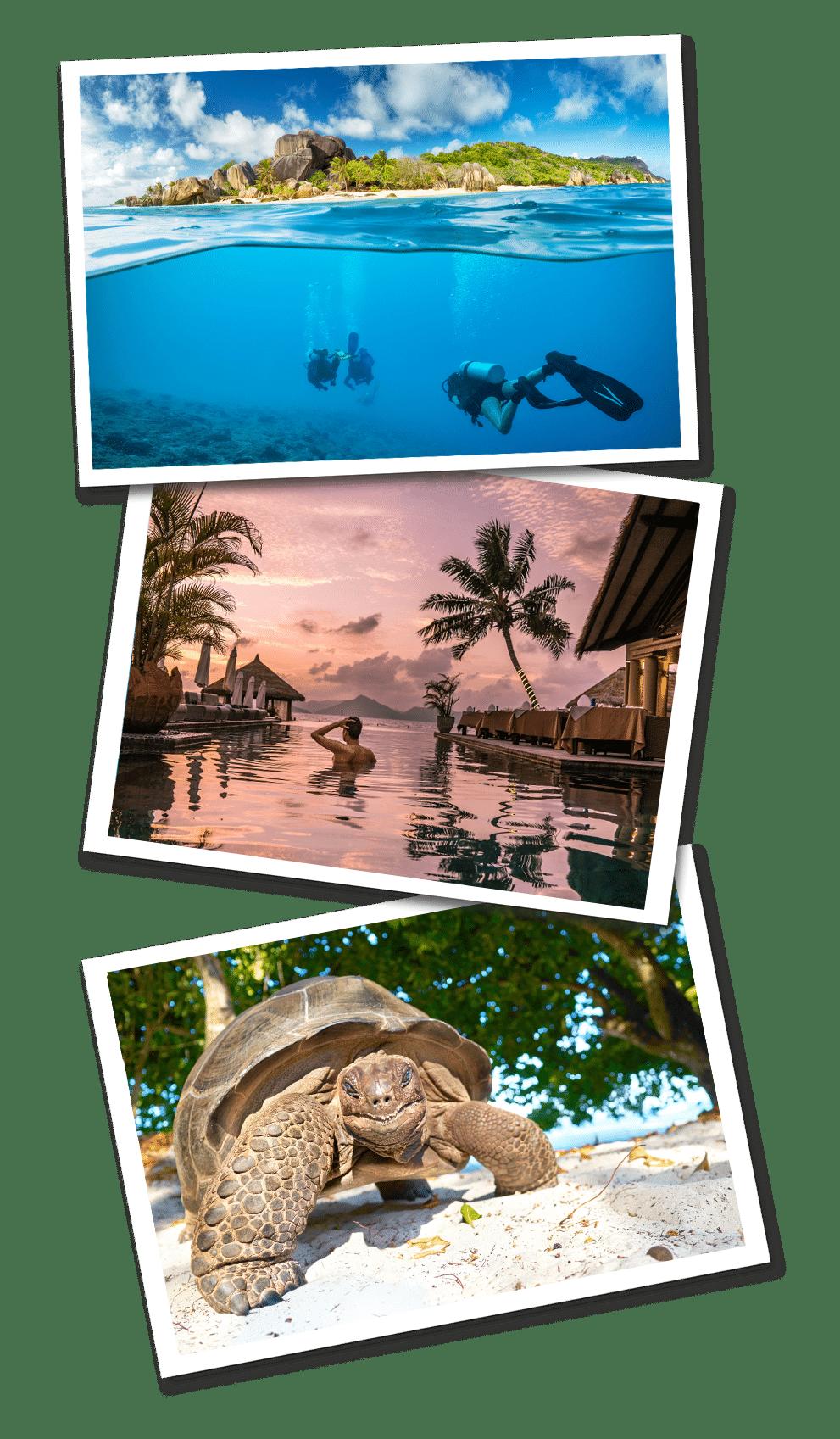 seychelles postcards