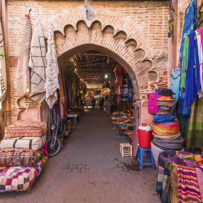 Souk in morocco, marketplace