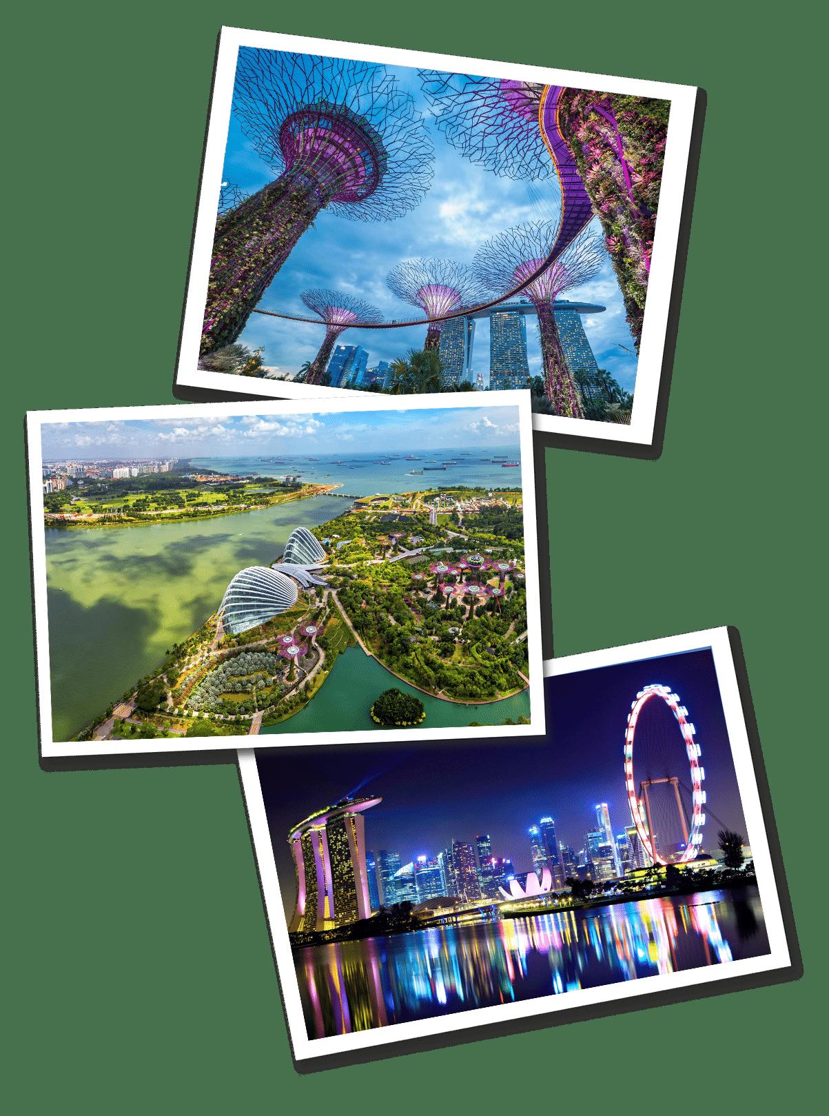 Singapore postcards