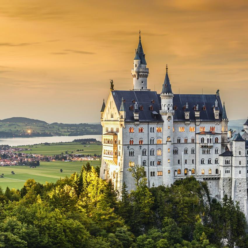 Bavarian Alps castle germany
