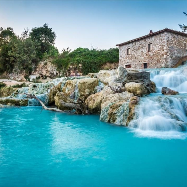 Hot springs in Tuscany