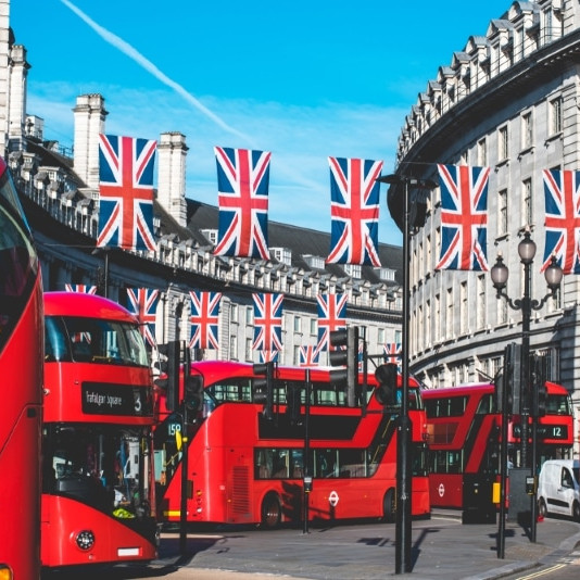 Red buses england