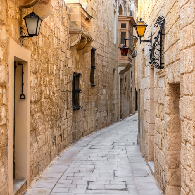 The silent city of Mdina Malta