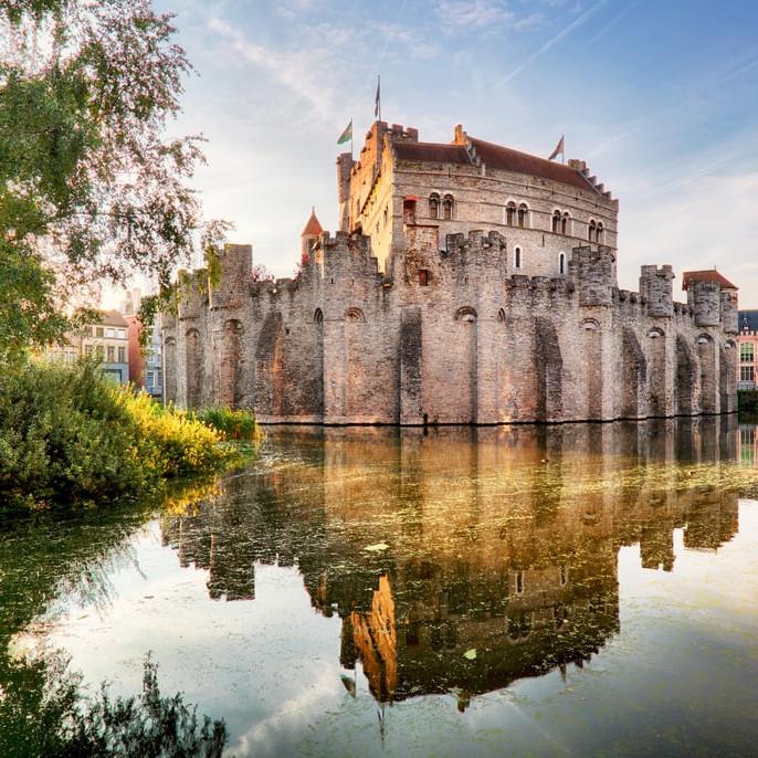 castles in ghent, belgium