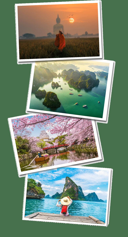 Asia postcards