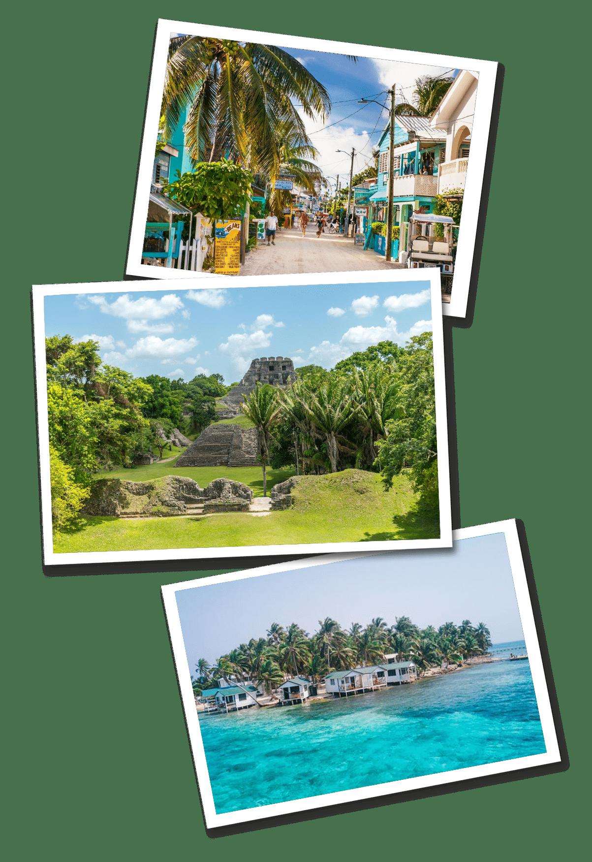 belize postcards