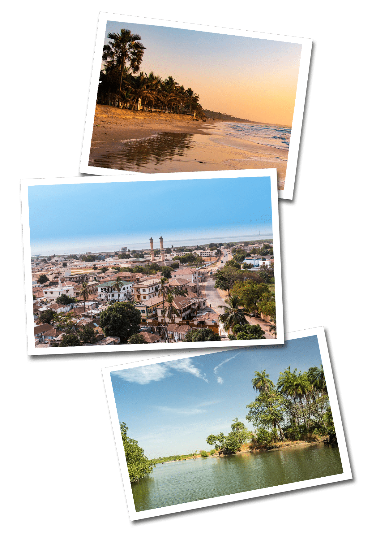Gambia postcards