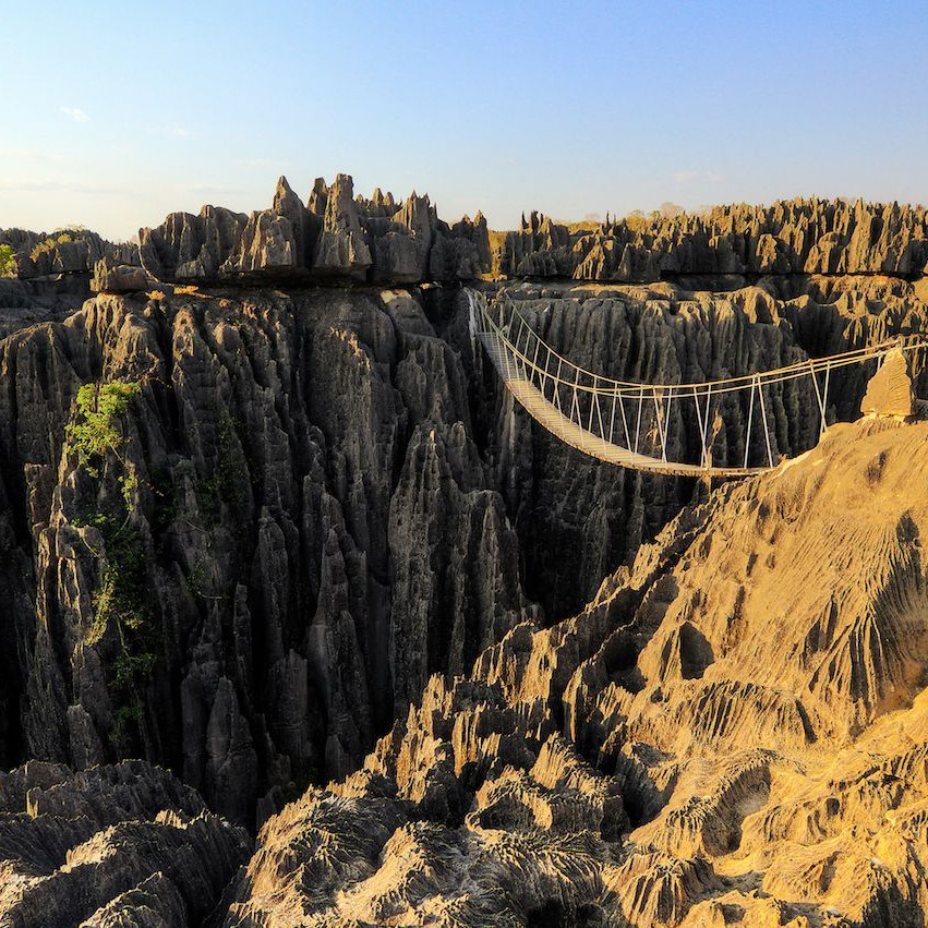 Suspension bridge Tsingy Madagascar