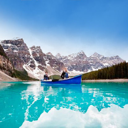 Canooing in BANFF Canada North America Travel Guide
