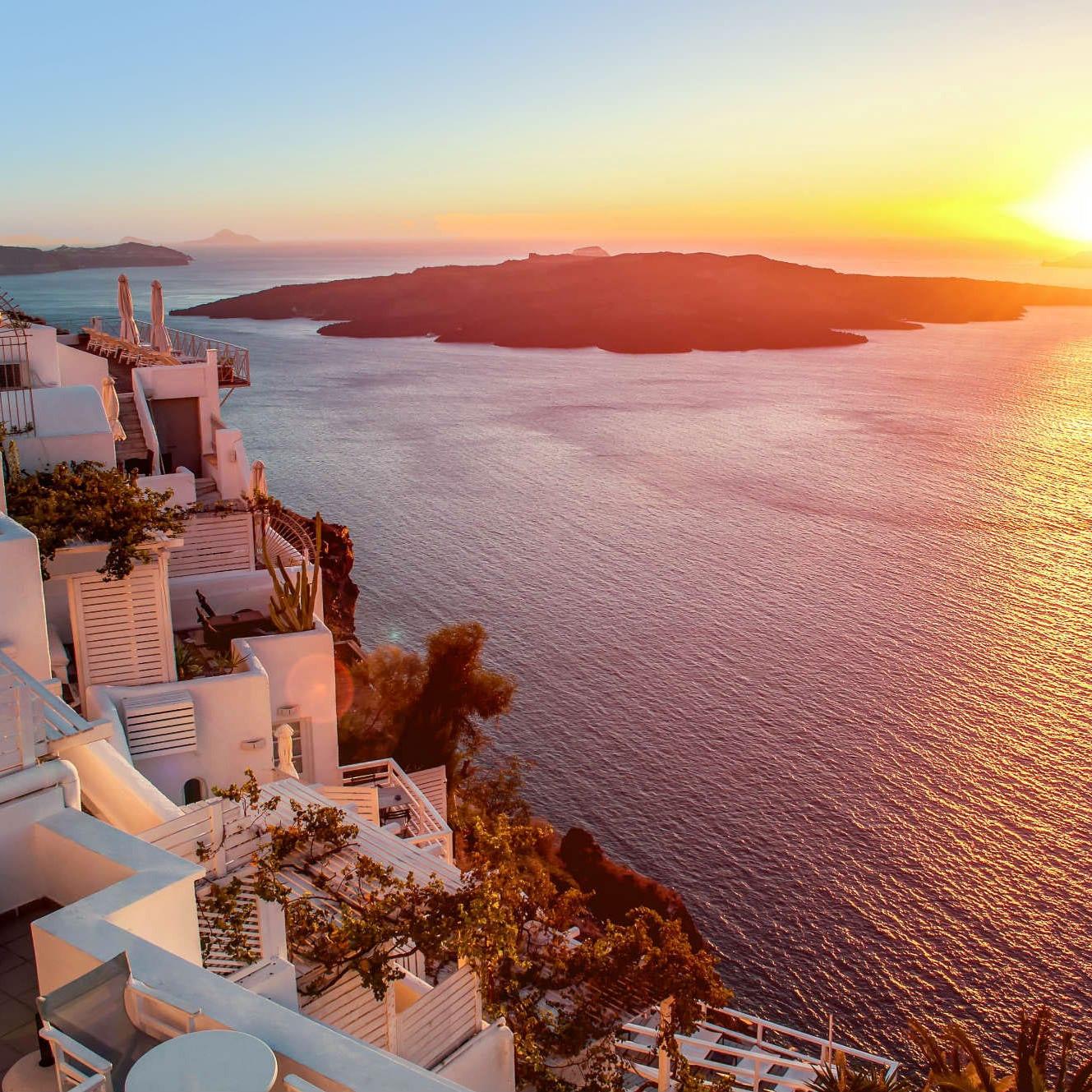 Greece sunset wanderlust