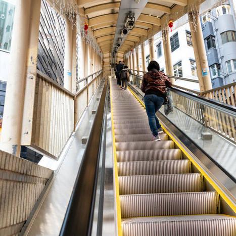 Longest escalator in Hong Kong