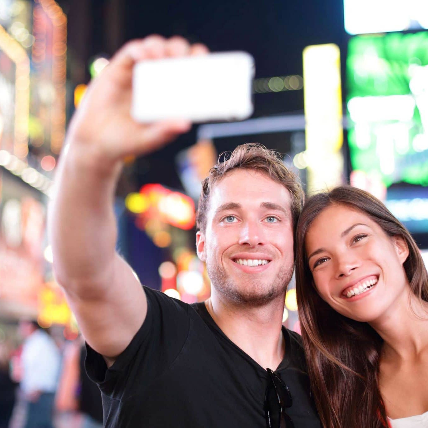 Selfie in Times square north america