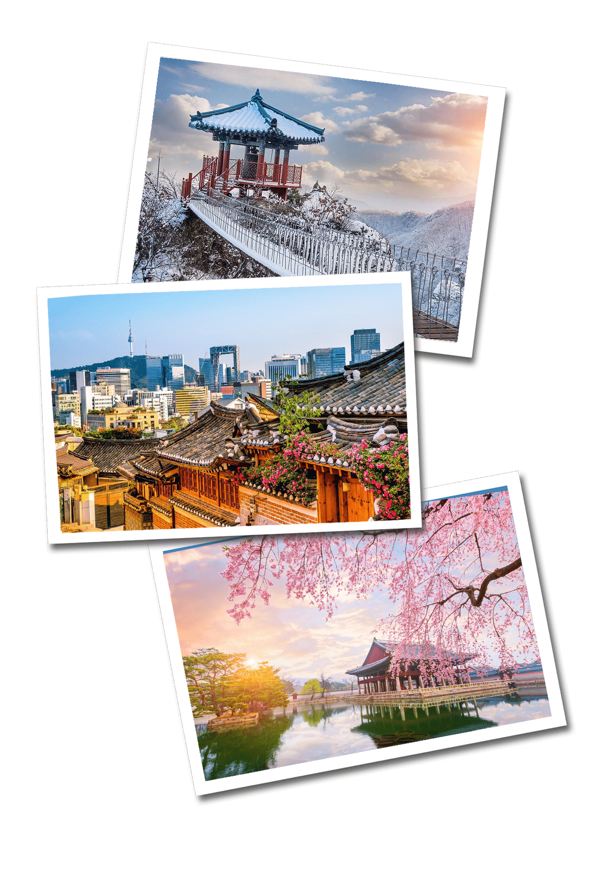 south korea postcards