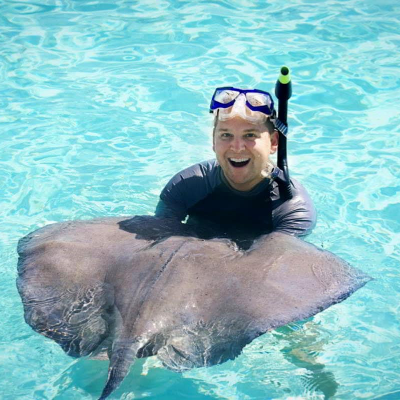 Swimming with stingrays caribbean travel guide