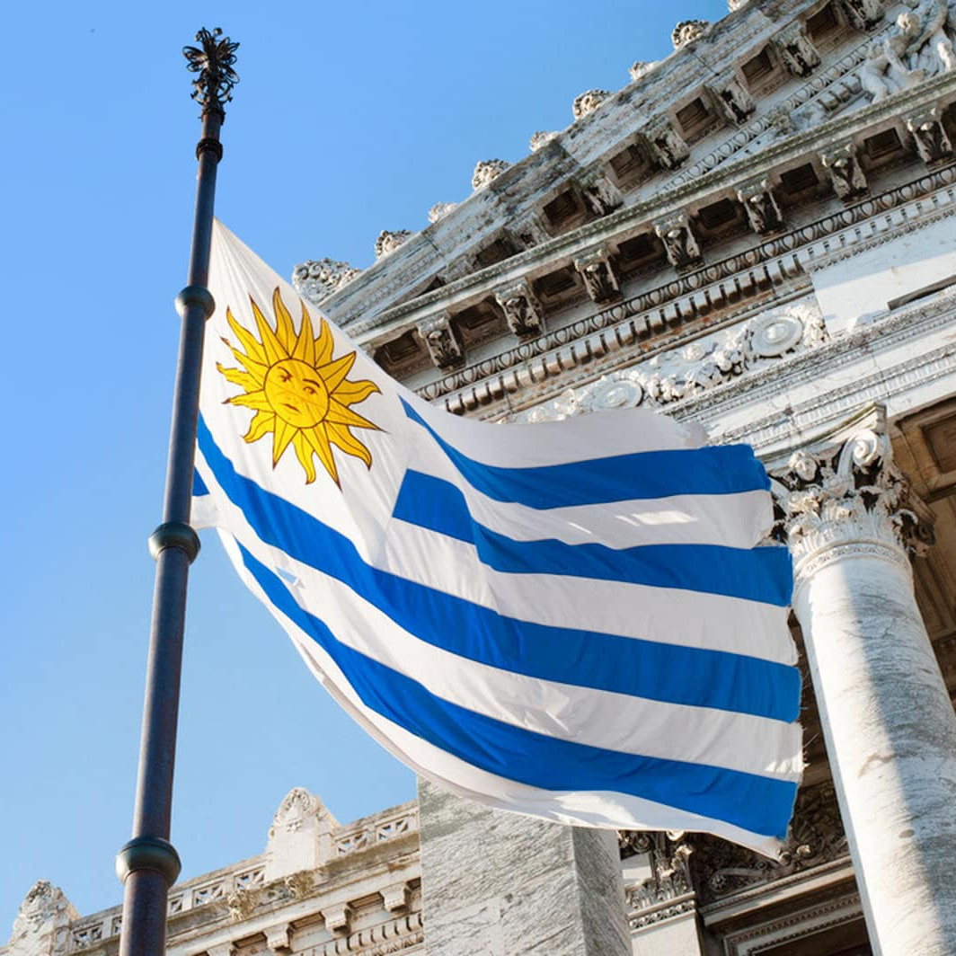 Uruguayan flag south america travel guide