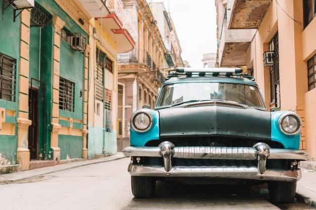 cuba old vintage car