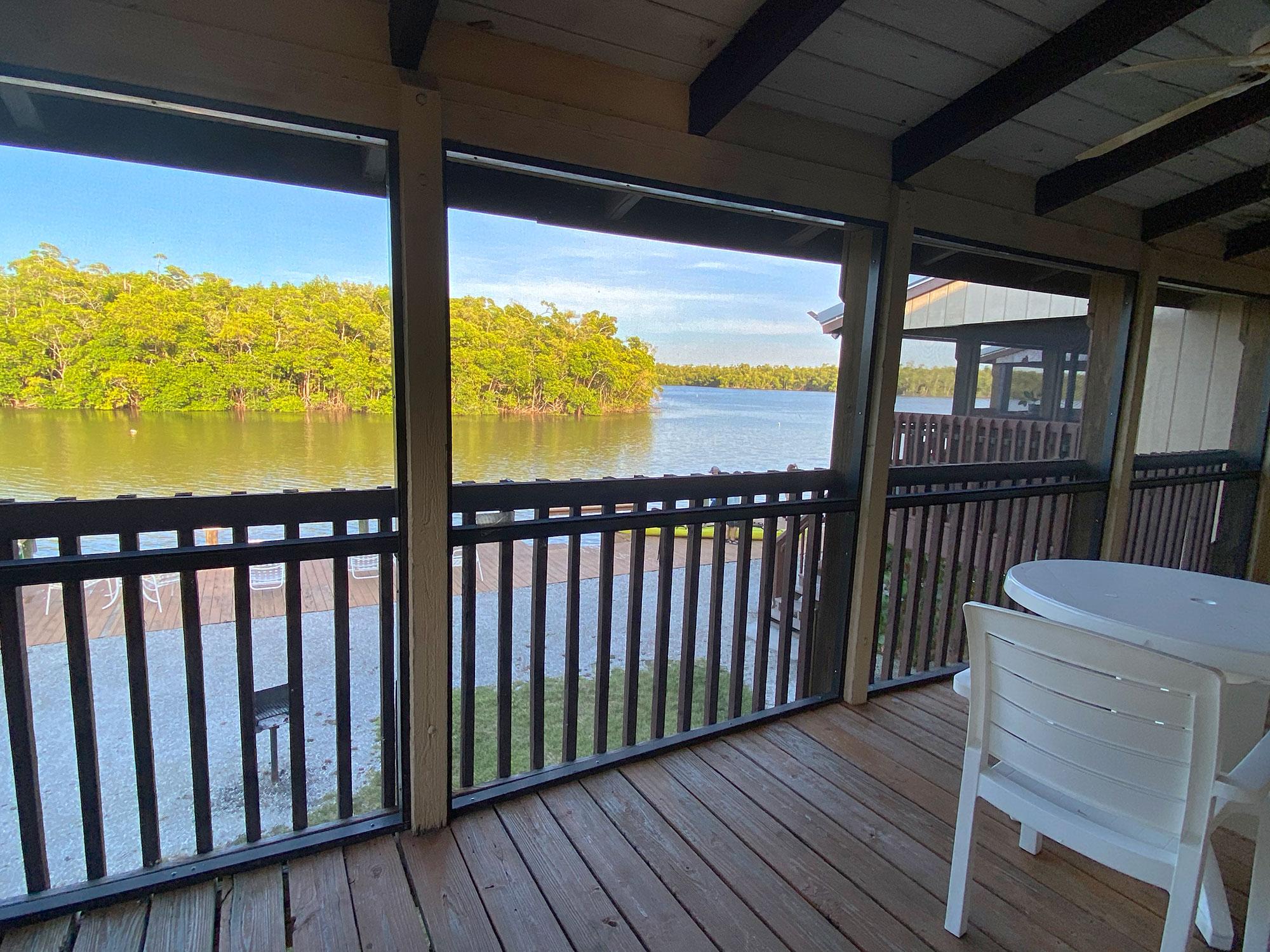 Inside cabin river wilderness